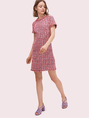 Kate Spade Multi Tweed Dress, Perfect Peony - Size 0