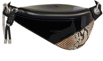 Givenchy Whip Mini Patent and Snakeskin Belt Bag