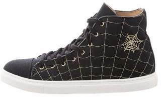 Charlotte Olympia Cap-Toe High-Top Sneakers