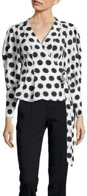 C/Meo CMEO COLLECTIVE Unending Polka Dot Wrap Top