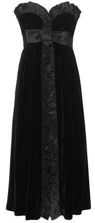 Miu MiuMiu Miu Strapless Velvet Dress