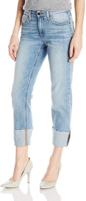 """Joe's Jeans Women's Smith Midrise Straight Crop Jean with Destroyed 4"""" Hem"""