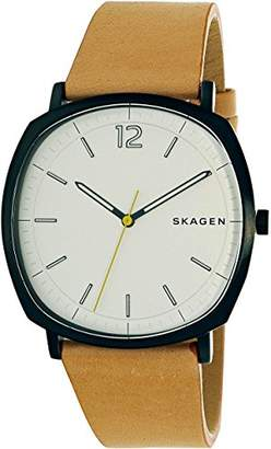 Skagen Men's 'Rungsted' Quartz Stainless Steel and Leather Casual Watch