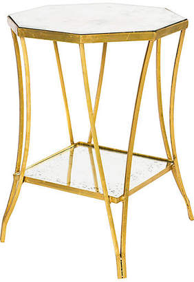One Kings Lane Cuadrado Two-Tiered Side Table - Gold