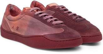 Acne Studios Lars Canvas And Suede Sneakers
