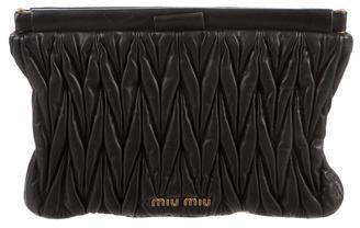 Miu MiuMiu Miu Matelassé Leather Clutch