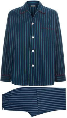 Harrods Stripe Print Pyjama Set