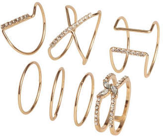 H&M 7-pack rings - Gold