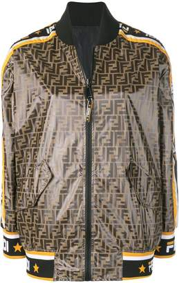 Fendi Mania print bomber jacket