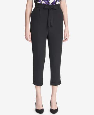 Calvin Klein Petite Paper-Bag Pants