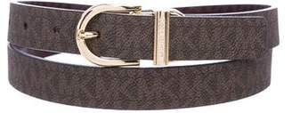 MICHAEL Michael Kors Logo Leather Belt