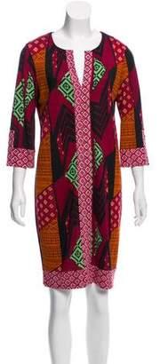 Diane von Furstenberg Silk Printed Shift Dress