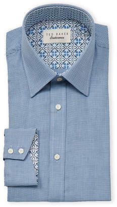 Ted Baker Endurance Long Sleeve Mini Houndstooth Dress Shirt