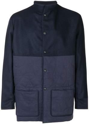 Corelate band collar coat