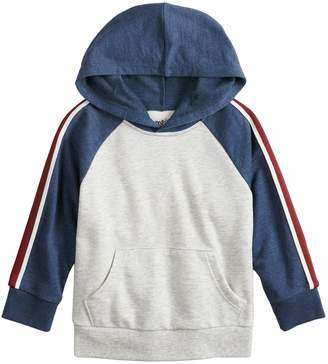 Toddler Boy Jumping Beans Taped Raglan Hoodie Fleece