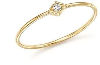 Rachel Zoe Zoë Chicco Zoe Chicco 14K Yellow Gold Diamond-Shape Ring with Diamond