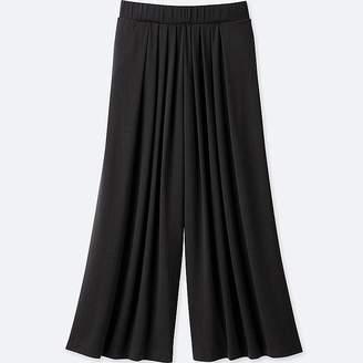 UNIQLO Women's Tuck Flare Wide Pants $19.90 thestylecure.com