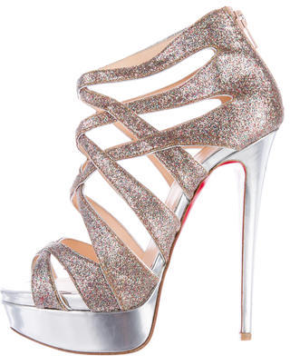 Christian Louboutin Christian Louboutin Glitter Platform Sandals