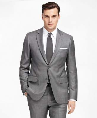 Brooks Brothers Fitzgerald Fit Saxxon Wool Sharkskin 1818 Suit