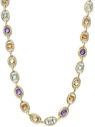 "Bloomingdale's Multi Gemstone Geometric Necklace in 14K Yellow Gold, 17"" - 100% Exclusive"