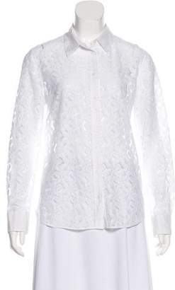 Equipment Lace Button-Up Top