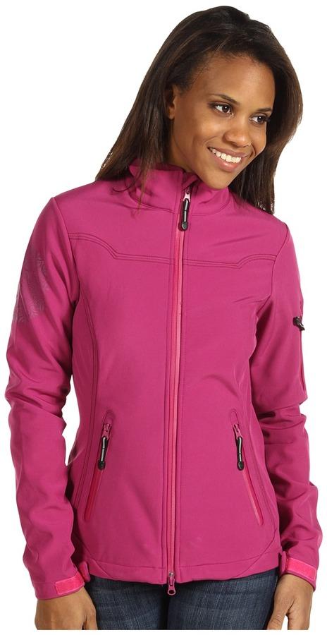 Roper Raspberry Softshell Short Jacket w/Print (Pink) - Apparel
