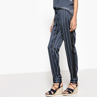 """La Redoute Collections Tie Waist Striped Pyjama Trousers, Length 29"""""""