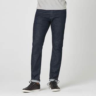 DSTLD Skinny-Slim Jeans in Dark Wash Resin - Grey Stitch