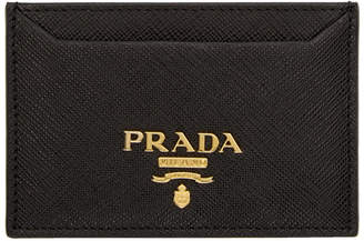 Prada Black Saffiano Single Card Holder