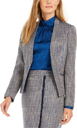 Calvin Klein Asymmetrical Tweed Blazer