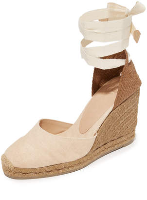 Castaner Net Fabric Wedge Espadrilles $145 thestylecure.com