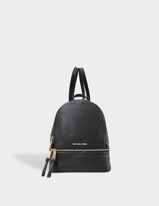 MICHAEL Michael Kors Rhea Zip Medium Backpack in Black Soft Venus