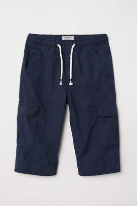 H&M Long Cargo Shorts - Blue