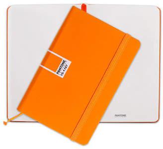 Pantone NEW Flame Orange Pocket Plain Elastic Band Notebook