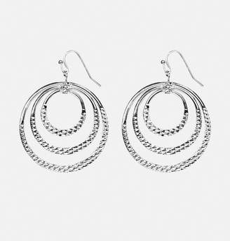 Avenue Textured Ring Drop Earrings