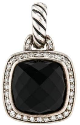 David Yurman Diamond & Onyx Albion Pendant