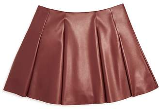 AQUA Girls' Faux Leather Mini Skirt , Sizes S-XL - 100% Exclusive $58 thestylecure.com