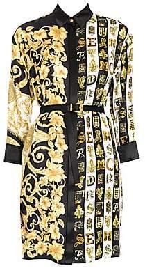 a5940d0a0b1a Versace Women s Hibiscus Print Belted Shirtdress Tunic