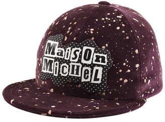 Maison Michel Printed Cotton Baseball Cap