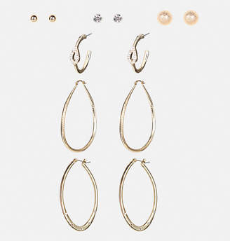 Avenue Oversize Oval Hoop Earring Set