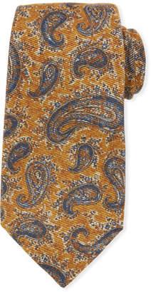 Kiton Antique Paisley Wool/Silk Tie