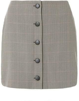Dorothy Perkins Womens Petite Grey Check Print Mini Skirt
