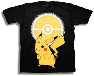Pokemon Boys' Pikachu Lightning Pokeball Short Sleeve Graphic T-Shirt