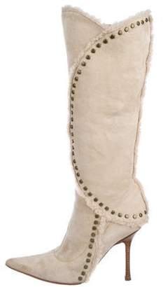 Jimmy Choo Shearling Knee Boots