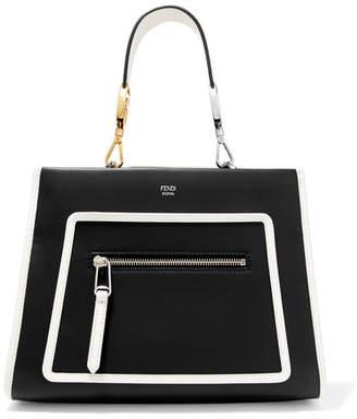 Fendi Runaway Small Leather Tote - Black