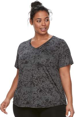Tek Gear Plus Size Burnout Tee
