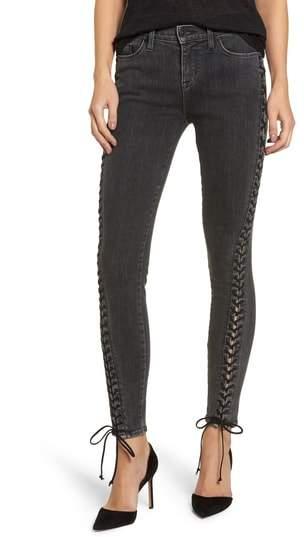 Hudson Jeans Stevie Lace-Up Skinny Jeans