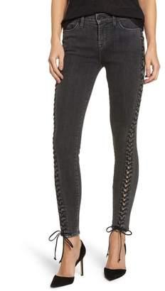 Hudson Stevie Lace-Up Skinny Jeans