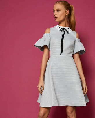 a9824315aa6e84 Ted Baker ARAYE Cold shoulder bow detail dress