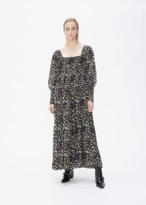 Ganni Long Sleeve Printed Dress